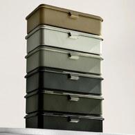 日本TRUSCO 上掀式工具收納盒 (墨綠、20.3公分)