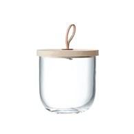 英國LSA 木蓋皮把手點心儲物罐