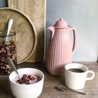丹麥Nordal多立克柱式保溫咖啡壺(粉)