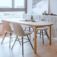 丹麥Sketch Cove橢圓型膠囊餐桌 (橡木、180公分)