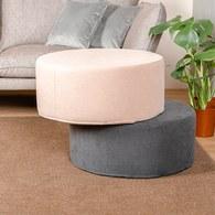 波蘭Sits 圓形布面沙發椅凳 (鐵灰)
