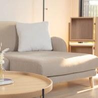 波蘭Sits Karin圓弧布面右向L型沙發 (褐色O、寬264公分)