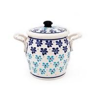 波蘭 Zaklady 輕盈水仙花陶瓷壺型儲物罐 (直徑17.8公分)