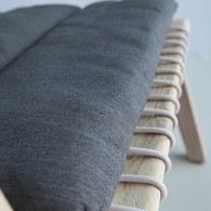 荷蘭Woven+ 繩編附墊扶手躺椅