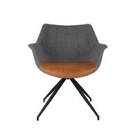 荷蘭Zuiver 道爾頓扶手椅 (棕)